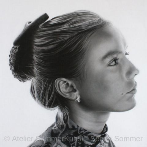 0220 | Tanja, Pastell auf Pastelmat®, 55 x 55 cm, 2018 (Referenzfoto: Hans-Joachim Reiter)