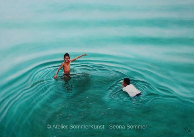 0190 | Summertime, Öl auf Leinwand, 140 x 100 cm, 2016