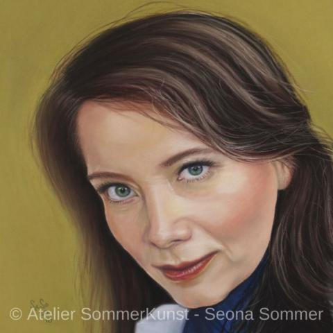 0195 | Lilian, Pastell auf Pastelmat®, 31 x 31 cm, 2016