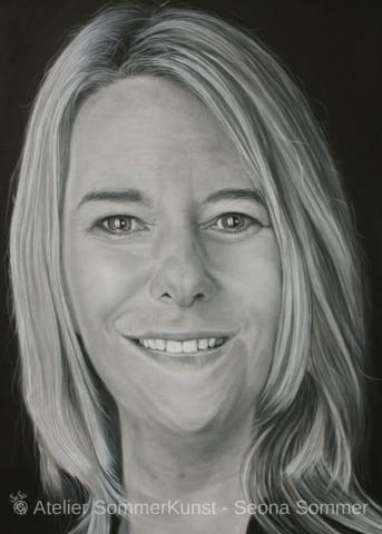 0204 | Christina, Öl auf Leinwand, 50 x 70 cm, 2017