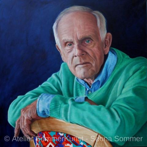 0219 | Bernhard, Öl auf Leinwand, 100 x 100 cm, 2018 (Referenzfoto: Hans-Joachim Reiter)