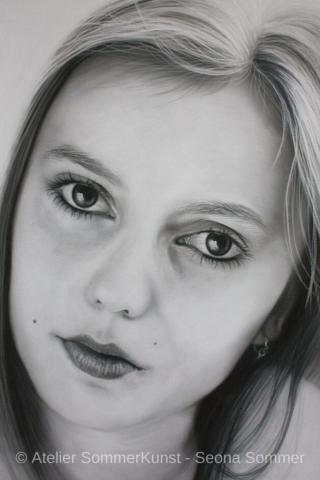0221 | Tanja, Pastell auf Pastelmat®, 42 x 65 cm, 2018 (Referenzfoto: Hans-Joachim Reiter)
