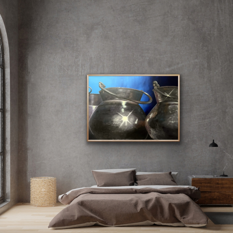 0114 Brass Jugs, 2010 | oil on canvas, 100 x 140 cm, 350 EUR