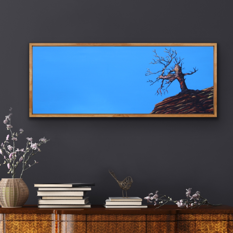 0000 Lonely Tree, 2011 | oil on canvas, 40 x 120 cm, 200 EUR